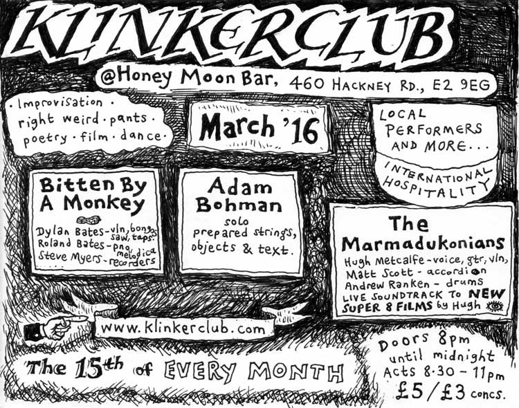 Klinker Club flyer March 2016