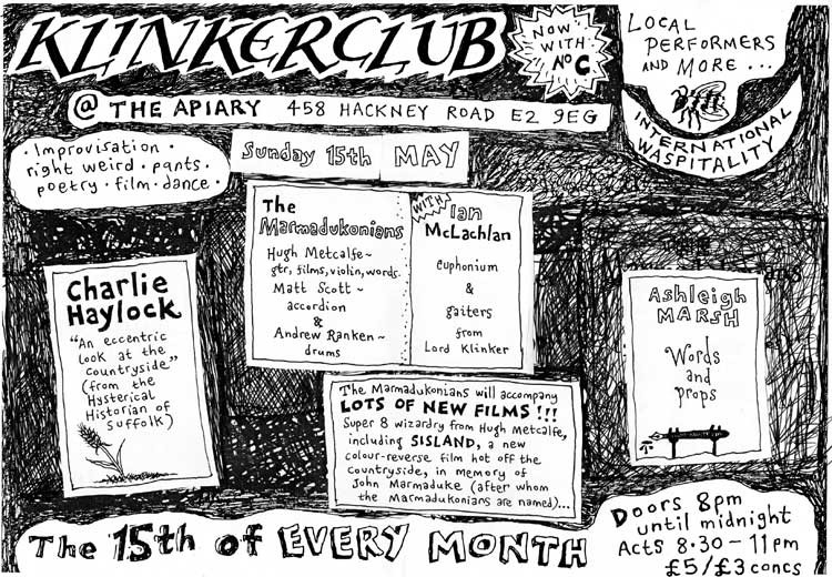 Klinker Club flyer May 2016