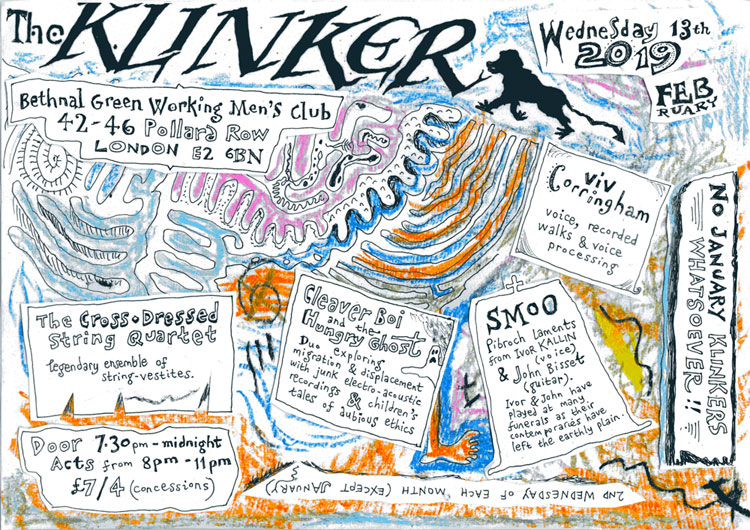 Klinker Club London flyer February 2019
