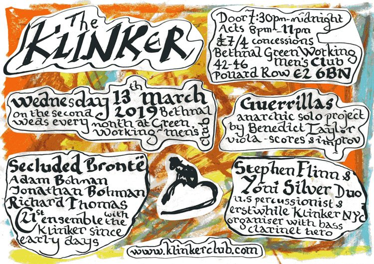 Klinker Club London flyer March 2019