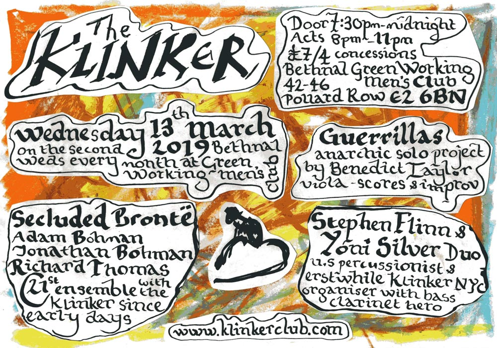 Klinker Club London March 2019 flyer