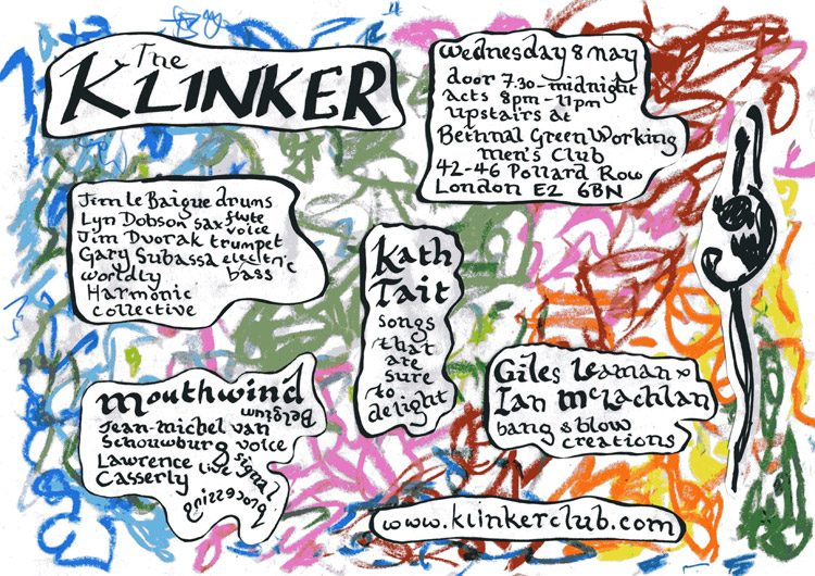 Klinker Club London flyer May 2019