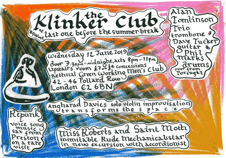 Klinker Club London flyer June 2019